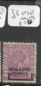INDIA PATIALA (P2309B) KGV  1.3A SURCH SG O70  MOG