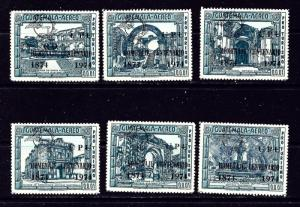 Guatemala C517-22 MNH 1974 UPU overprints