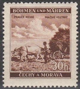 Czechoslovakia Bohemia & Moravia #56  MNH
