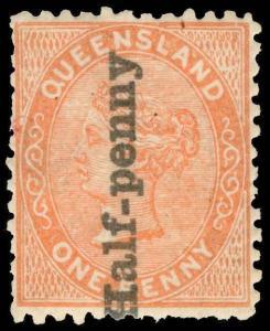 Australia / Queensland Scott 65 Variety Gibbons 151a Mint Stamp