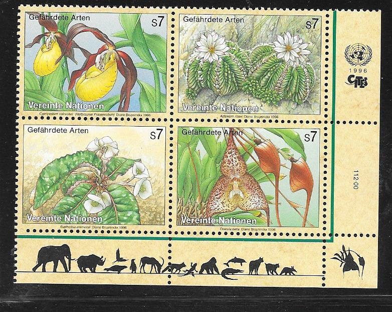 United Nations Vienna MNH 199a Endangered Species Flowers SCV 8.00
