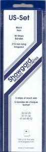 SHOWGARD US1 (5 EACH OF 10 SIZES 50) BLACK MOUNTS RETAIL PRICE $24.50