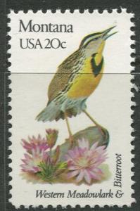 USA - Scott 1978 - State Birds & Flowers - 1982 - MNG - Single 20c Stamp