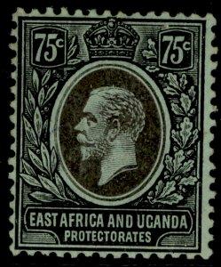 EAST AFRICA and UGANDA GV SG52, 75c black/green, M MINT.