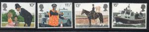 Great Britain Sc 875-8 1979 Police stamp set mint NH