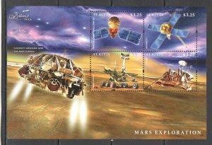 St. Kitts MNH S/S Mars Exploration 2013