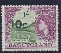 Basutoland  SG 64   Mint  Hinged  - Opt surcharge   Type I