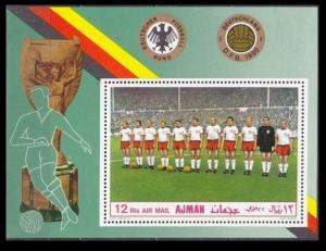 1969 Ajman 368/B84 Football 7,00 €