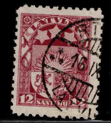 Latvia Scott 119 Used coat of arms stamp