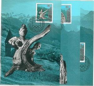 OLYMPICS - ART : 3 MAXIMUM CARD - LIECHTENSTEIN 1984