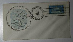 Niagara Frontier Federation Stamp Club Buffalo NY 1955 Philatelic Expo Cachet