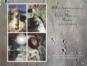 St. Vincent - Union Island, Moon Landing 40th Anniversary, NH
