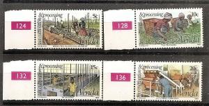 South Africa-Venda  28-31 MNH 1980 Tea Cultivation