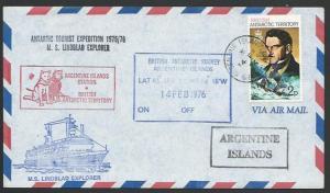 FALKLAND IS 1976 cover Lindblad Explorer at Argentine Islands..............11544