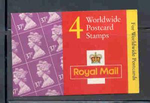 Great Britain Sc BK605 1997 MH226a Machin stamp booklet  mint NH