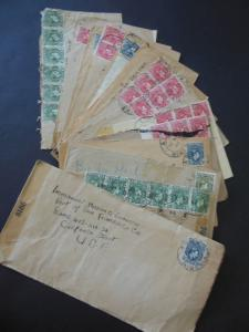 NIGERIA : Fascinating group of 17 covers from 1944 to USA. Most Double Censored