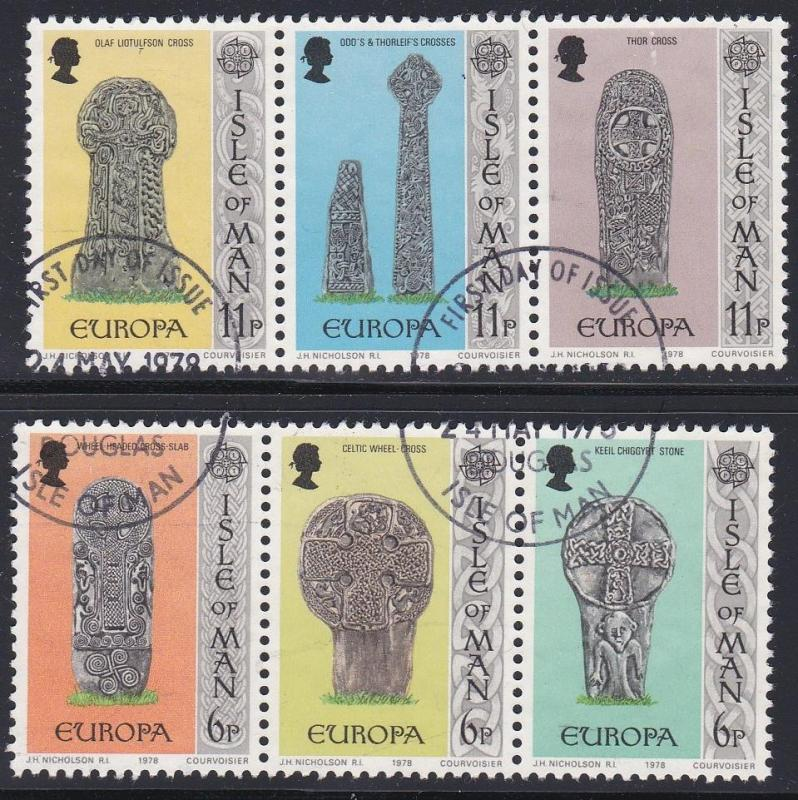 Isle of Man # 131-136, Europa '78, Used Set