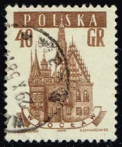 Poland #806 Wroclaw Town Hall; Used (0.25)
