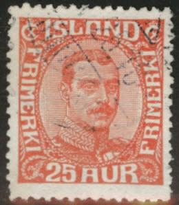Iceland Scott 121 used 1922 25a stamp CV$62.50