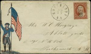 #26 ON PATRIOTIC COVER WITH PAID CANCEL USED LOCALLY BQ1056