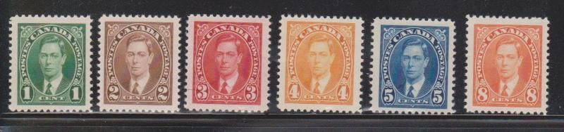 CANADA Scott # 231-6 Mint Never Hinged KGVI Mufti Issue