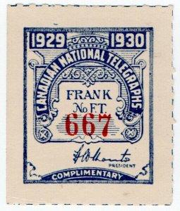 (I.B) Canada Telegraphs : Canadian National (1929)