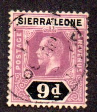 SIERRA LEONE 113 USED SCV $14.00 BIN $6.00 ROYALTY