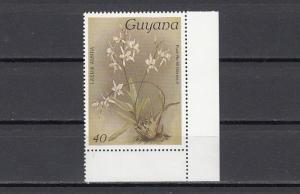 Guyana, Scott cat. 1112. Orchid 40c value.
