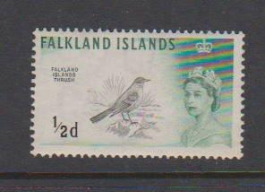 FALKLAND ISLANDS #128 MLH, MNH STAMP  LOT#144