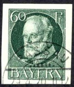 Germany Bavaria Sc# 128 Used 1916-1920 60pf dark green King Ludwig III
