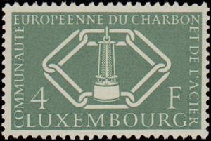 1956 Luxembourg #315-317, Complete Set(3), Never Hinged