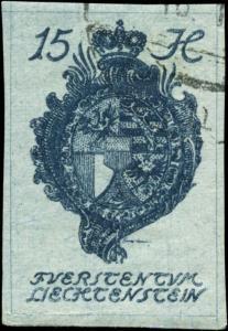 Liechtenstein Scott #20 Used