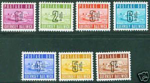 Guernsey Scott J1-7 MH* 1969 Postage due set CV$45.50