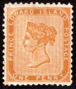 Scott 4, PEI, Prince Edward Island, Canada, F, p12,Used, light cancel, QV, 1862-