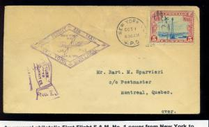 1928 U.S. to Canada  Airmail Dual Sided & Dual Stamped Cover (sTOCK #C11-z98)