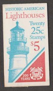 U.S. Scott #2474a BK171 Lighthouses Stamps - Plate #4 - Mint NH Booklet