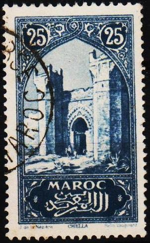 Morocco(French). 1917 25c S.G.131 Fine Used