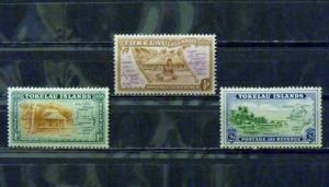 2833   Tokelau Islands   Mint Hinged, VF  #   1, 2, 3            C.V. $ 0.80
