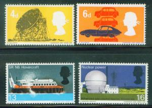 Great Britain Scott 466-9 stamp set MH*