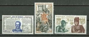 France # 1260-62  Edict of Nantes, etc.   (3)  Mint NH