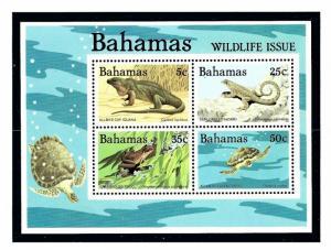 Bahamas 567a MNH 1984 Reptiles S/S