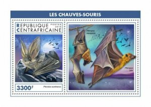 HERRICKSTAMP NEW ISSUES CENTRAL AFRICA Bats S/S