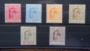 Bahamas 1902 - 1910 values to 5s Fresh Mint