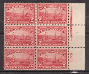 USA #372 Mint Fine - Very Fine Never Hinged Plate Block Of Six