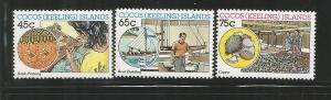 COCOS ISLANDS, 166-168, MNH, INDUSTRIES
