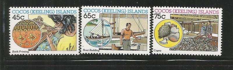 COCOS ISLANDS, 166-168, MNH, INDUSTRIES