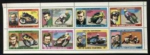 Equatorial Guinea #76138-76145 MNH M/S CV€3.50 Motorcyling Saarinen Owesle ...