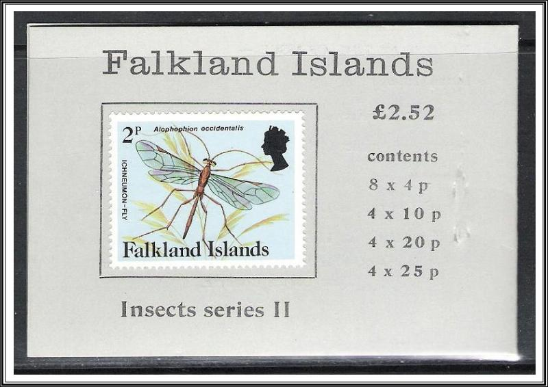 Falkland Islands SG#SB7 Insect Series II Booklet