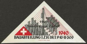 Switzerland 1939-45 WWII Feldpost Soldier CONSTRUCTION Local Vignettes Fine NH