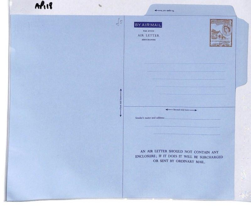 AP118 St Christopher Nevis Angla Airmail Air Letter Postal Stationery Cover PTS
